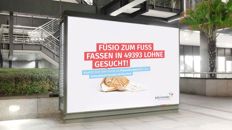 Neues: Recruiting-Kampagne Physiotherapie Beneke