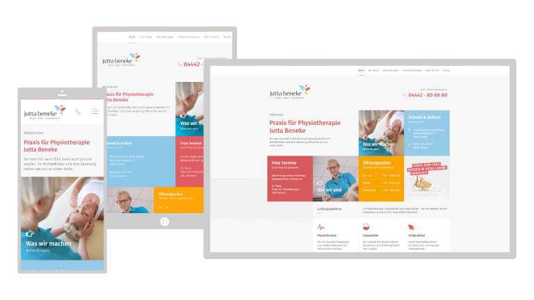 Neues: Responsive Webdesign Physiotherapie Beneke